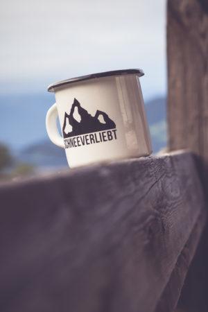 Schneeverliebt Tasse Berge