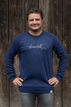 "Schneeverliebt Pullover ""Firstline"" in Heather Blau"