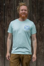 "Schneeverliebt Shirt ""Ewige Liebe"" in Caribbean Blue"