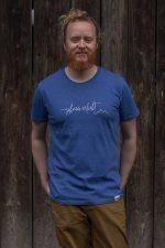 """Schneeverliebt Shirt """"Firstline"""" in Heather Blue"""