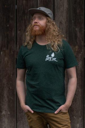 """Schneeverliebt Shirt """"Go Outside"""" Green"""